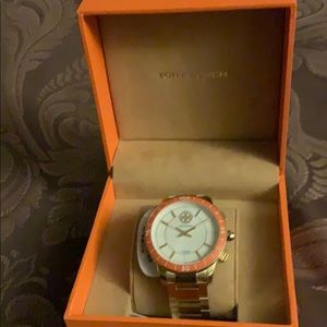 Brand New Tory Burch Goldtone Hybrid Smartwatch